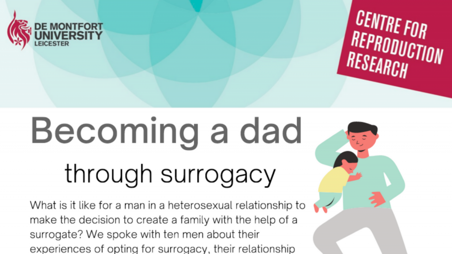 Infographic - Becoming a dad through surrogacy research
